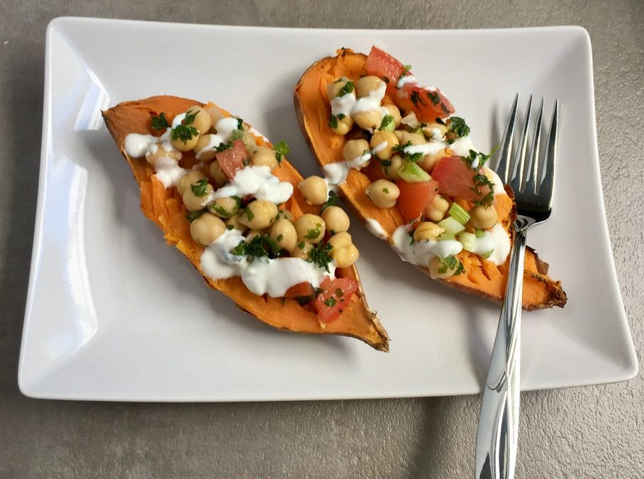 Mediterranean Sweet Potato Boats