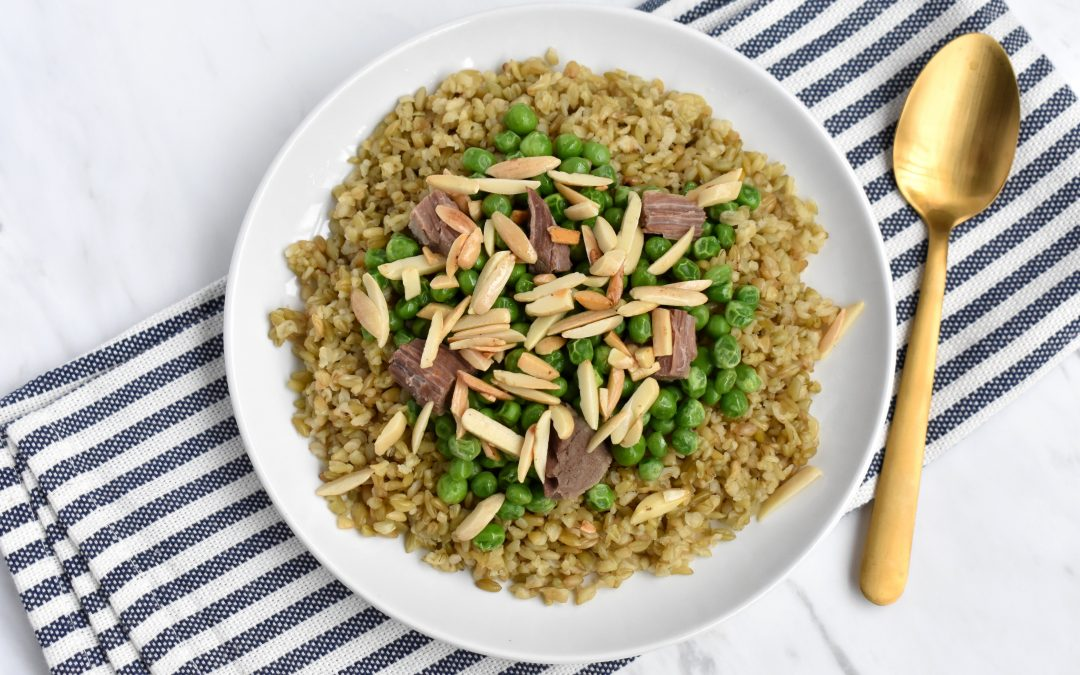 Freekeh with Meat: Authentic Syrian Freekeh Pilaf