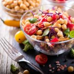bowl of chickpeas and tomatoes