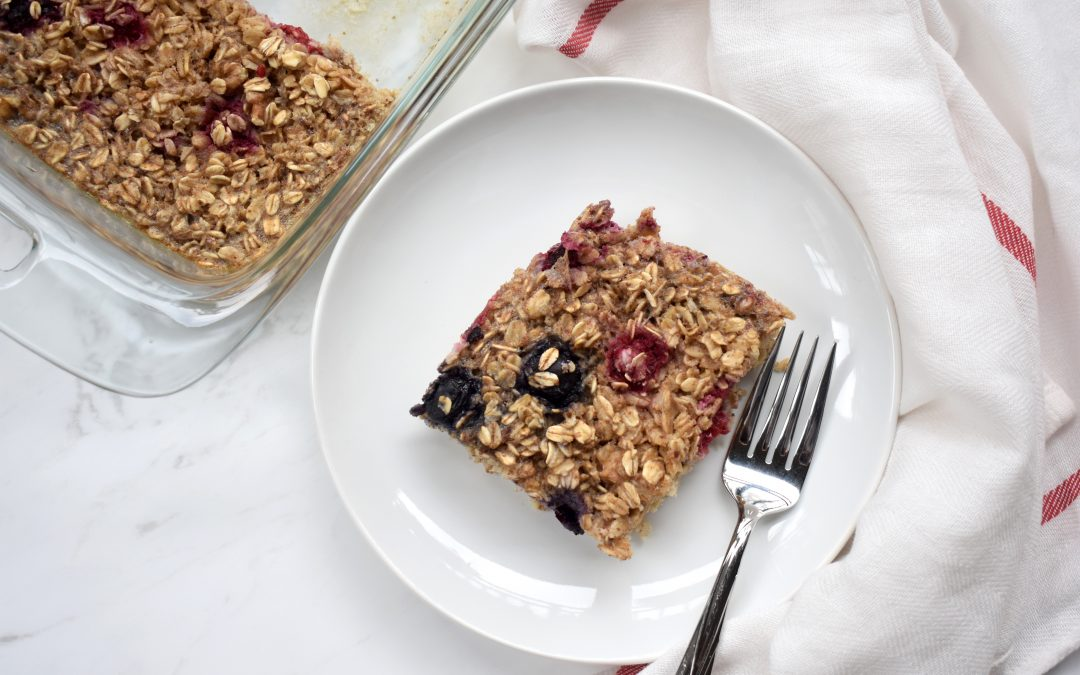 Triple Berry Oatmeal Bake