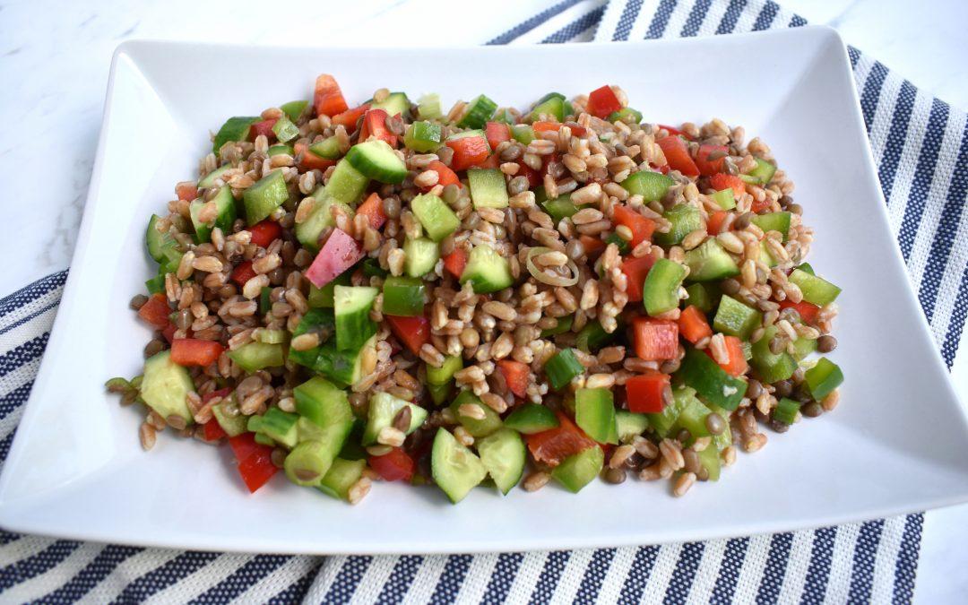 Farro Lentil Salad with Maple Walnut Dressing