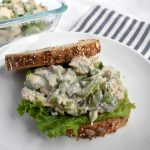 chicken salad on bread