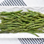 green beans with cilantro and garlic