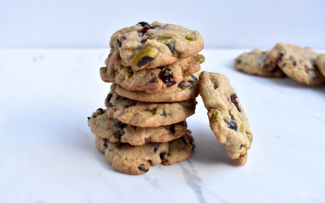 Cranberry Pistachio and Chocolate Cookies