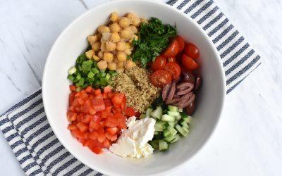 Mediterranean Chickpea Quinoa Power Bowl