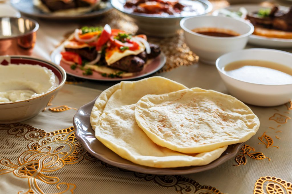 south asian food naan