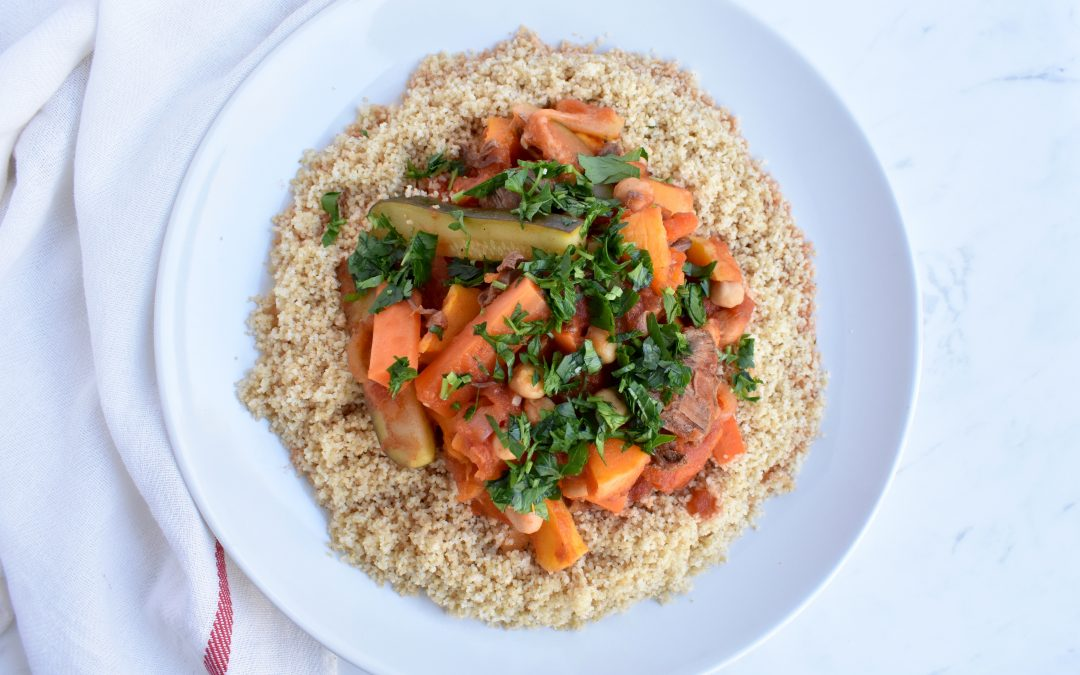 Moroccan Chickpea and Butternut Squash Stew with Couscous